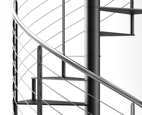 Scale C20 spiralne stepenice