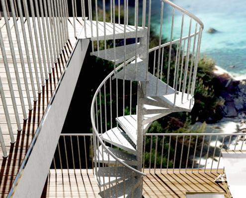 Metalne stepenice F20