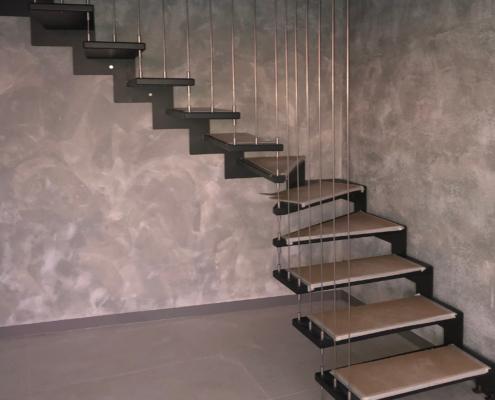 Drveno metalne stepenice